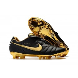 Nike Tiempo Legend 7 R10 Elite FG Firm Ground Cleats - Black Gold