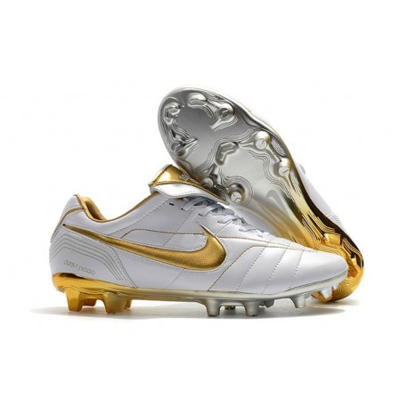 Nike Tiempo Legend 7 Elite FG Firm Ground Cleats - White Gold