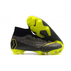 Nike Mercurial Superfly VI Elite ACC FG Boots - Dark Gray Yellow
