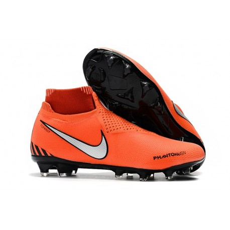 Nike Phantom VSN Elite DF FG Soccer Boots - Orange Silver Black