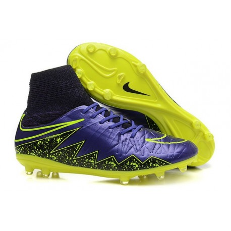 factory price 229d6 156ab Mens Nike Hypervenom Phantom II FG Soccer Cleats Purple Yellow Black