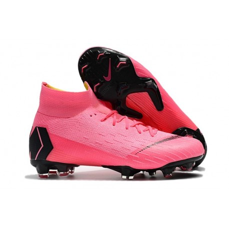 Nike Mercurial Superfly 6 Elite DF FG Soccer Cleats - Pink Black