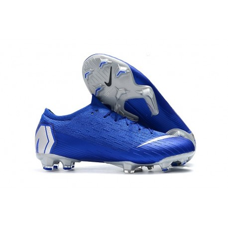 Mens Nike Mercurial Vapor 12 Elite FG Cleats - Blue Silver