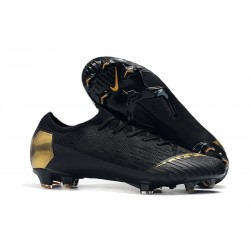 Mens Nike Mercurial Vapor 12 Elite FG Cleats - Black Golden