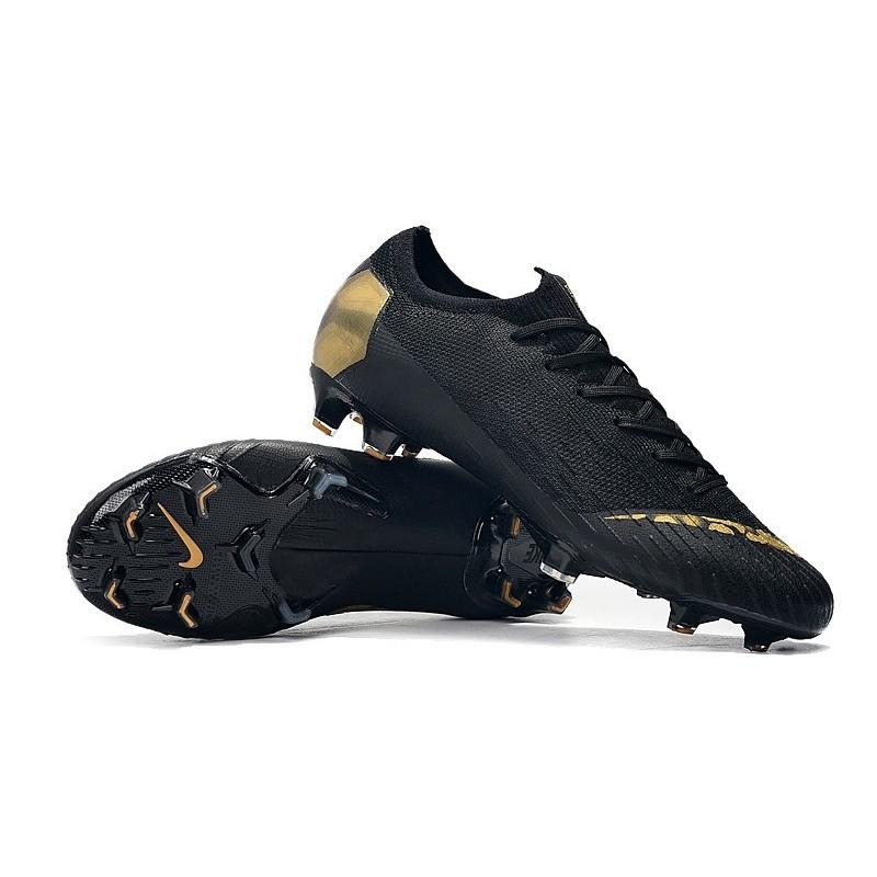 timeless design 2a2ba 0215e Mens Nike Mercurial Vapor 12 Elite FG Cleats - Black Golden