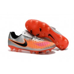 Nike Magista Opus II FG Mens Firm Ground Soccer Shoes Silver Orange Black
