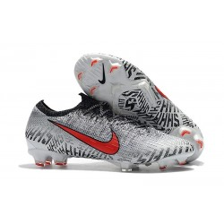 Neymar Nike Mercurial Vapor 12 Elite FG Cleats - White Red Black