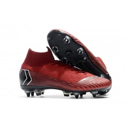 Nike Mercurial Superfly VI Elite Anti-Clog SG-Pro Red Black