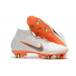 Nike Mercurial Superfly VI Elite Anti-Clog SG-Pro White Orange