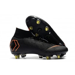 Nike Mercurial Superfly VI Elite Anti-Clog SG-Pro Black Orange