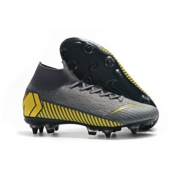Nike Mercurial Superfly 6 Elite Anti-Clog SG Grey Yellow