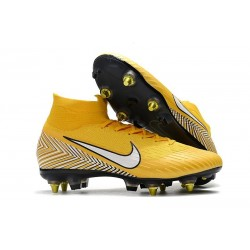 Neymar Nike Mercurial Superfly 6 Elite Anti-Clog SG Yellow