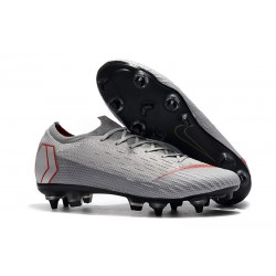 New Nike Mercurial Vapor 12 SG-Pro AC Grey Red