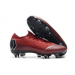 New Nike Mercurial Vapor 12 SG-Pro AC Red Black