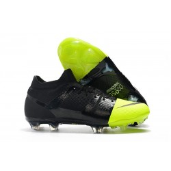 Nike Mercurial Greenspeed 360 Soccer Cleats - Black Metallic Silver Volt