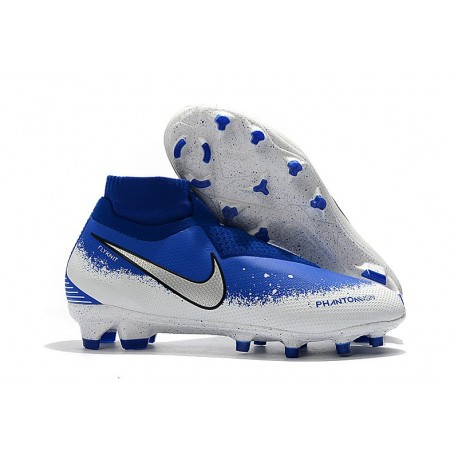 Nike Phantom VSN Elite DF FG Soccer Boots - Blue White