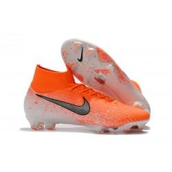 Nike Mercurial Superfly 6 Elite DF FG Soccer Cleats - Hyper Crimson Black White