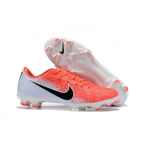 Mens Nike Mercurial Vapor 12 Elite FG Cleats - Red White Black