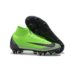 Cristiano Ronaldo Nike Mercurial Superfly 6 Elite Anti-Clog SG Green Black