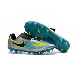 Nike Magista Opus II FG Mens Firm Ground Soccer Shoes Silver Blue Black