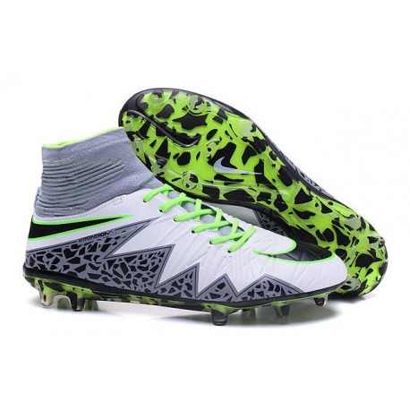 the latest 4dc89 f3b4c Mens Nike Hypervenom Phantom 2 FG Soccer Boots White Black Green