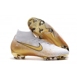 Nike Mercurial Superfly VI 360 Elite FG 2019 Boots White Gold