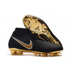 Nike Phantom VSN Elite DF FG Soccer Boots - Black Golden