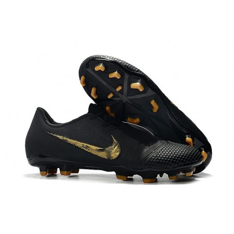 Nike Phantom Venom Elite FG Soccer Shoes Black Metallic Gold