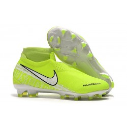 Nike Phantom Vision Elite FG ACC Soccer Cleat Volt White