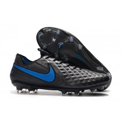 Nike Tiempo Legend VIII FG K-Leather Cleats - Black Blue