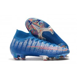 Nike Mercurial Superfly VII Elite FG Soccer Shoes - Blue Red