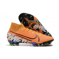 Nike Mercurial Superfly VII Elite FG Soccer Shoes - Orange White