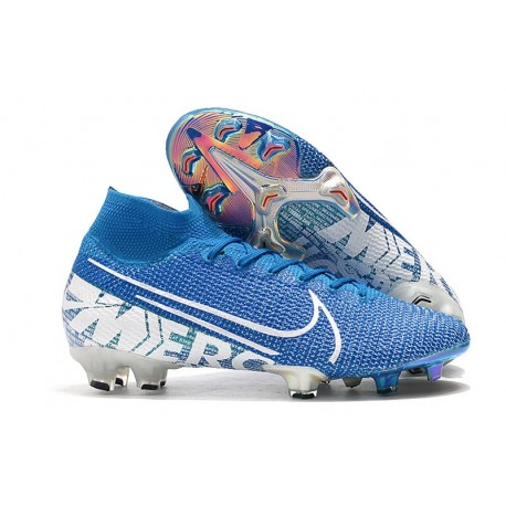 Nike Mercurial Superfly VII Elite FG Soccer Shoes - Blue White