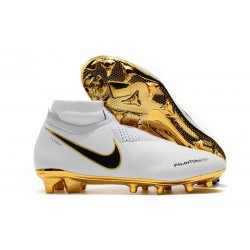 Nike Phantom Vision Elite Dynamic Fit FG Soccer Cleats - White Gold
