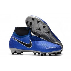 Nike Phantom Vision Elite Dynamic Fit FG Soccer Cleats - Blue Black