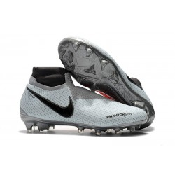Nike Phantom Vision Elite Dynamic Fit FG Soccer Cleats - Gray Red