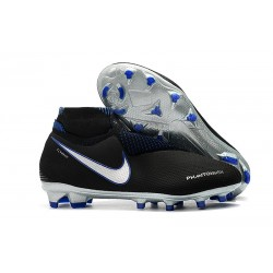 Nike Phantom Vision Elite Dynamic Fit FG Soccer Cleats - Black Blue