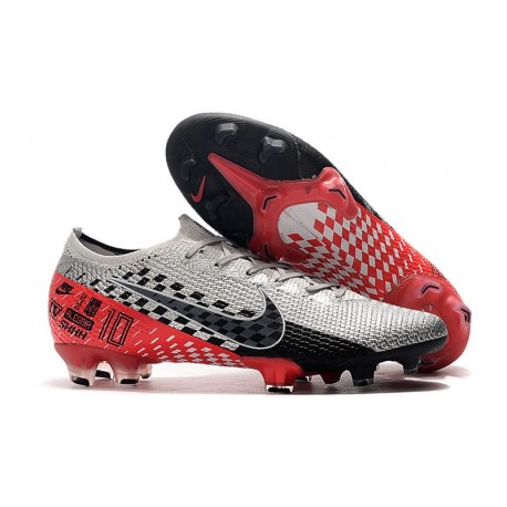 Nike Mercurial Vapor XIII Elite FG Neymar Boots NJR Chrome Red Black