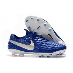 Nike Tiempo Legend VIII FG K-Leather Cleats - Hyper Royal White