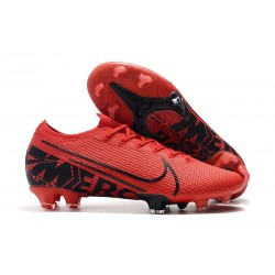 Nike Mercurial Vapor XIII Elite FG Men Boots Red Black