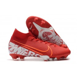 Nike Mercurial Superfly VII Elite FG Soccer Shoes - Red White