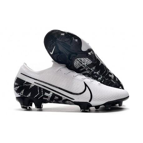 Nike Mercurial Vapor 13 Elite Flyknit FG - White Black