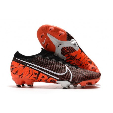 Limited Edition Nike Mercurial Vapor 13 Elite Flyknit FG - Black White Hyper Crimson
