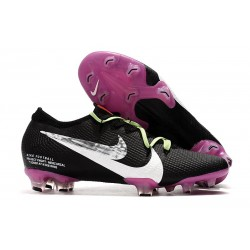 Nike Mercurial Vapor 13 Elite Flyknit FG - Black Purple White