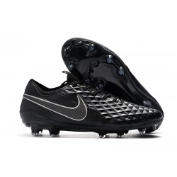 Nike Tiempo Legend VIII FG K-Leather Cleats -Black