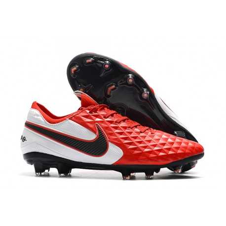 Nike Tiempo Legend VIII FG K-Leather Cleats -Red White Black