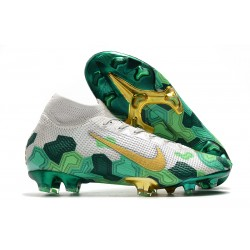 Nike Mercurial Superfly 7 Elite FG x Mbappé Vast Grey Gold Electro Green
