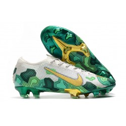 Nike Mercurial Vapor 13 Elite Flyknit FG -Mbappe Grey Gold Green