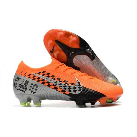Nike Mercurial Vapor 13 Elite Flyknit FG -Orange Chrome Black