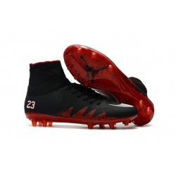 Nike Hypervenom Phantom II FG Neymar X Jordan Shoes Black Red